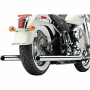 Bassani Softail Dual Exhaust System W/ Straight Tips 2000-06 Harley Softails
