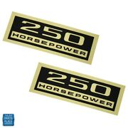1963-1966 Chevy Cars 250 Hp Valve Cover Decal Pair Dc0228 Gm 3852257