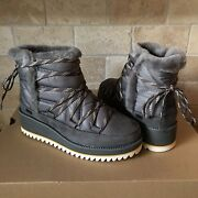 Ugg Cayden Mini Boots Charcoal Waterproof Winter Snow Boots Size Us 7 Womens