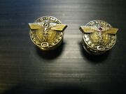 Collectible 10k Karat Yellow Gold 10 And 5 Year Boeing Airlines Employee Pins