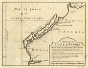 And039coste Dand039angolaandhellipand039 Between Bengo And Cuanza Rivers. Luanda Environs Bellin 1748 Map