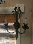 Awesome 18th Century Bronze Candle Sconce Electrified In The 20s