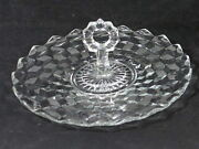 Vintage Fostoria American 12 Curled/rolled Edge Handled Tidbit Tray Lovely