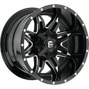 20x10 Fuel Lethal Rims Black Offroad Wheels 35 Mt Tires Fit Lifted Chevy Ford