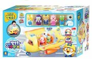 Pororo Airplane Role Play Set And 6pcs Figure Kids Toy-song,melody,light/ Korea Tv