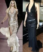 20905 Versace Runway Sexy Embellished Dress Gown Iconic