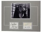 Star Wars Vader Obi Wan Prowse Jones Guinness Signed 12x18 Matted Display