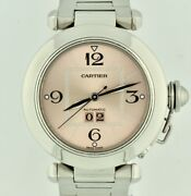 Pasha C 2475 Midsize 35mm Stainless Steel Automatic Pink Dial Watch
