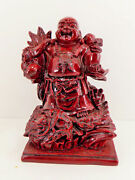 Budda 7 Solid Red Resin Casting Buddhism Gift Collectible Statue Figures Spirit