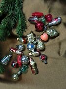 23 Items Smal Soviet Antique Ussr Vintage Glass Christmas Toys Old Rare