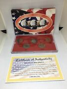 2002 D Denver Mint Gold Edition State Quarter Collection 5 Pc Free Shipping