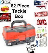 Ready 2 Fish Tackle Box With Fishing Bait Accessories Case Lure Parts Kit Set