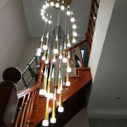 Led Modern Chandelier Staircase Pendant Lamps Acrylic Ceiling Lighting Fixtures
