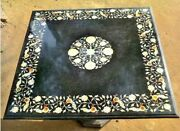 30 Marble Coffee Table Top Mother Of Pearl Floral And Peacock Inlay Decors H2047