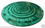 2.5and039 Marble Top Side Coffee Table Malachite Random Inlay Restaurant Decors H1658