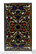 24x42 Marble Dining Table Top Precious Marquetry Inlay Living Room Decor H1410