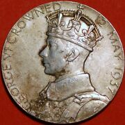 George Iv Crowned 12 May 1937 And Queen Elizabeth Oficial Coronation Royal Mint