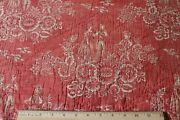 Antique 18thc Resist Printed Turkey Red Cotton Toile Fabric55 X 22reserved