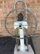Edson Pedestal And 24 Steering Wheel W/ Transmission Cable