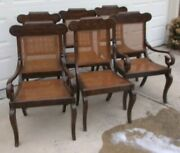 Set Of 6 Cane Dining Room Chairs