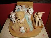 Cherished Teddies Christopher 950483 Mint Collectible Bear 4 Tall Enesco 1991