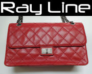 Shoulder Bag Vintage Classic Jumbo Red Rare Mintused 100 Authentic