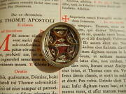 Christian Relic 1700s Sts. Andrew, Aloysius, Vincent, Dominic And 3 Saints