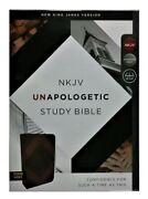 Thomas Nelson Nkjv Unapologetic Bible Mahogany Leather Soft Index 8.9 Point