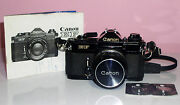Vintage Canon Ef Automatic 35mm Slr Camera Straps New Batteries Exc Condition