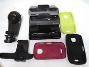 Samsung Droid Charge Lot Of Cases And Desktop Chargers 3 And 3 + 1 Car Craddle