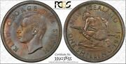 1951 New Zealand One 1 Schilling, Pcgs Ms 64 Gold Shield