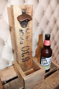 Beer Bottle Opener-wall Mount- Fathers Day Gift Wood Without Cap Catcher