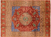 Hand-knotted Ikat Wool Area Rug 9and039 1 X 12and039 3 - P6199