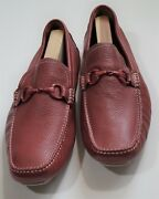 New Mike Konos Men's Shoes Mk-9127201 Leather Loafer Size 13m Made In Brazil