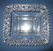 Vtg Old Colony Open Lace Rectangular Centerpiece Candy Nut Dish