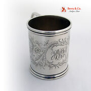 Baby Cup Floral Foliate Engraved S Kirk 1916 O'donovan