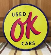 Ok Used Cars Chevrolet Authorized Coupe Chevy Coke Vintage Style Decor Metal