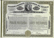 Mexico 1940 National Railways Of Mexico Bond Stock Certificate Ferrocarriles Abn