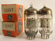2 Matched 1960and039s Ge 12av7 5965tubes - Gray P Copper Grids Top And039fat-dand039 Getter