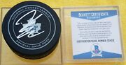 Beckett Coa C64512 James Reimer Signed Toronto Maple Leafs Official Game Puck