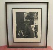 David Bumbeck Etching Signed 6 Of 40 Pictures In 28x31 Double Glass Frame