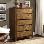 Rustic Farmhouse Elegance 5-drawer Dresser Better Homes And Gardens Solid Wood
