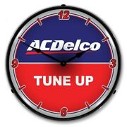 Nostalgic Vintage Style Ac Delco Tune Up Acdelco Backlit Led Lighted Wall Clock