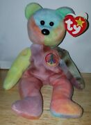 Rare 1 Of A Kind 1996 Ty Beanie Baby Peace Bear Collectible With Tag Errors