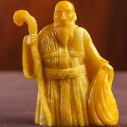 Amber Antique Natural Figuration Weight 69 Size 60 80 And039monk With An Easterand039