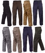 Rothco Military Tactical Bdu Fatigue Pants - Solid Color - Sizes Xs-2xl