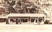 Buckley Bros General Store Gas Station Old Pumps Silver Plumeco Rppc Postcard