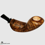 Smooth Double-horn Reverse Calabash Smoking Pipe By Russian Master Ulitin