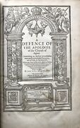 Anne Bacon / Works Of John Jewel Defence Of The Apologie Of The Church 1609