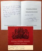 Musical Autographs / Program For Il Trovatore Royal Opera House Covent Signed
